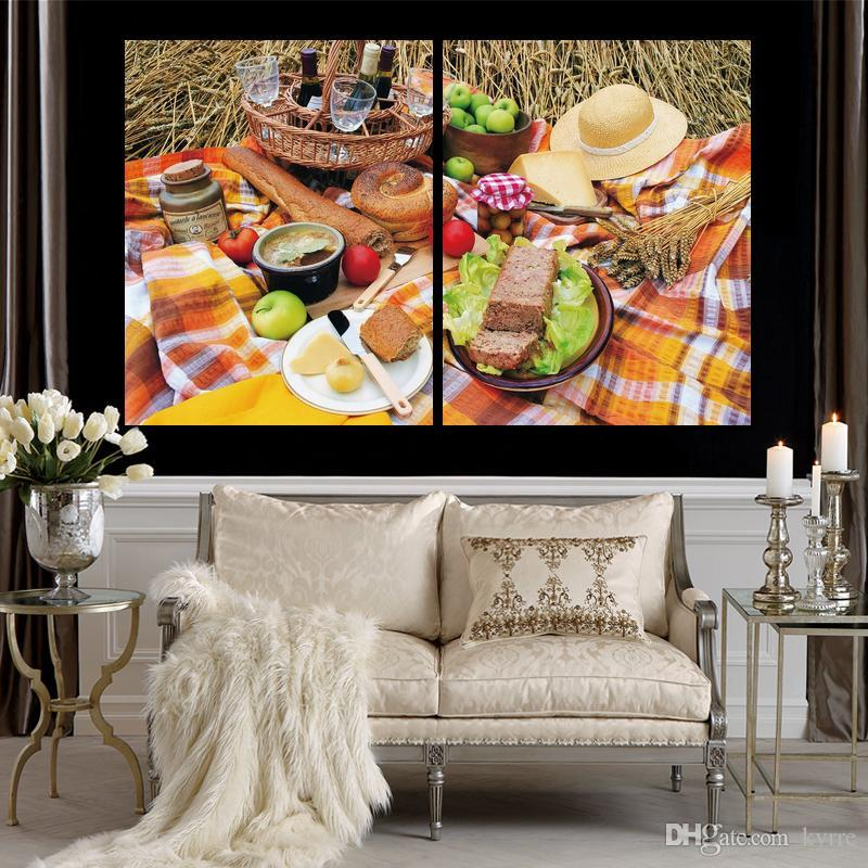 nature food vegetables canvas print arts pictures for dining room decor