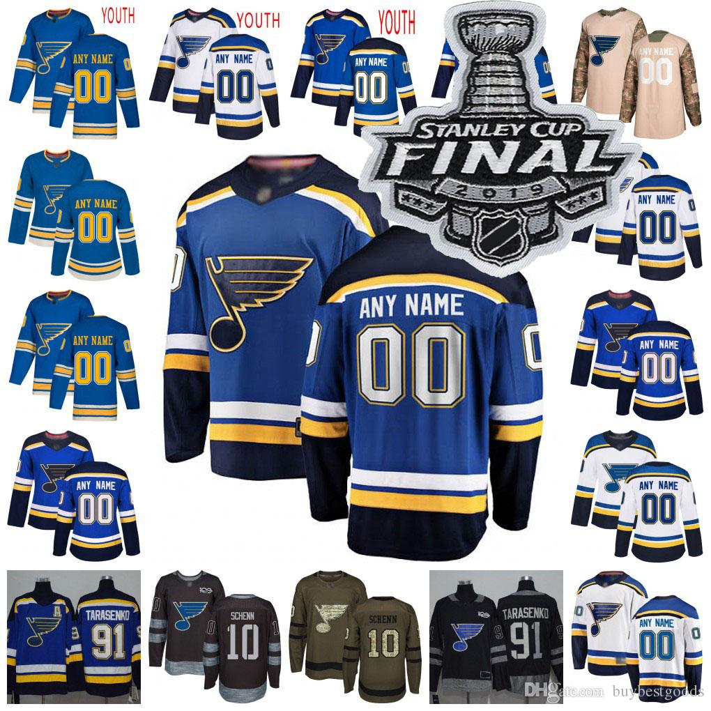 buy online c3514 4738a St. Louis Blues Jersey 55 Colton Parayko 34 Jake Allen 10 Brayden Schenn  Oskar Sundqvist Robby Fabbri Hockey Jerseys Men Women Youth