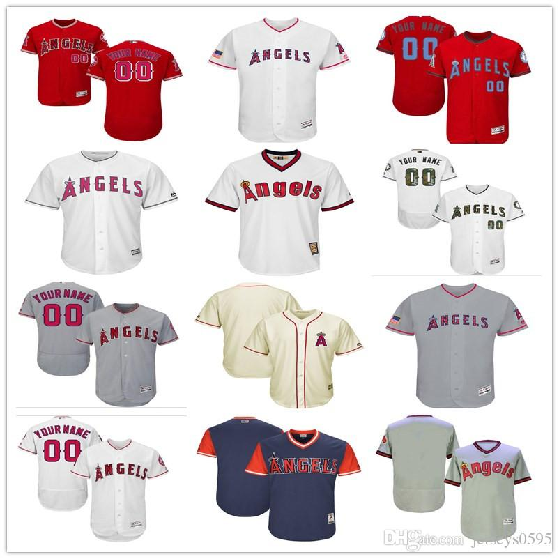 21626aa37 2018 Custom Men s Women Youth Los Angeles Angels Jersey Any Your ...