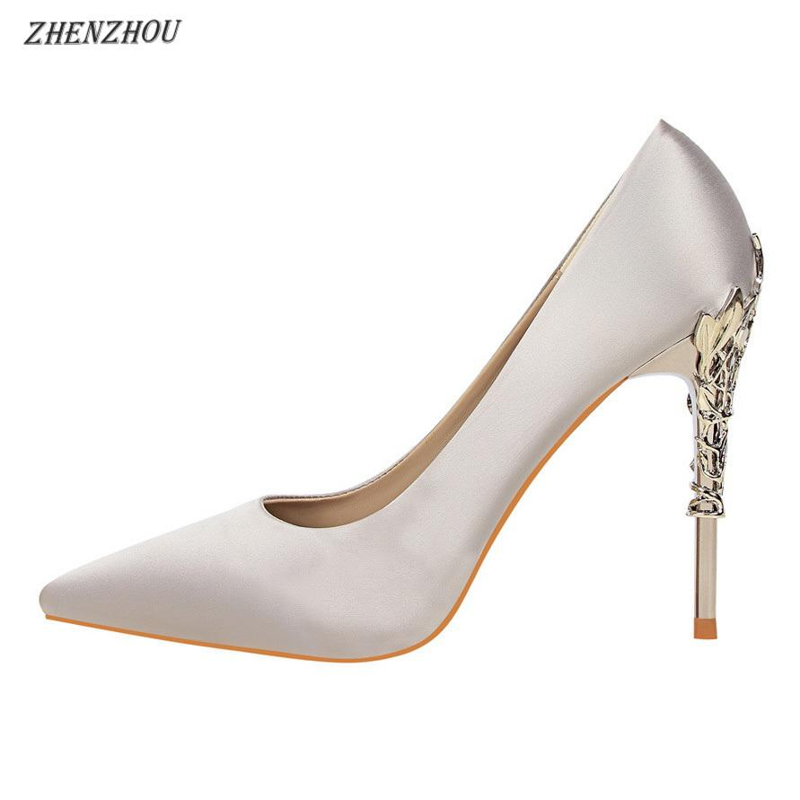 4139169773f Designer Dress Shoes 13 Colour Women Pumps 2019 Fashion Red High Heels 10  CM Women S Pointed Heel Metal Decoration Purple Shoes Cute Shoes From  Deals77