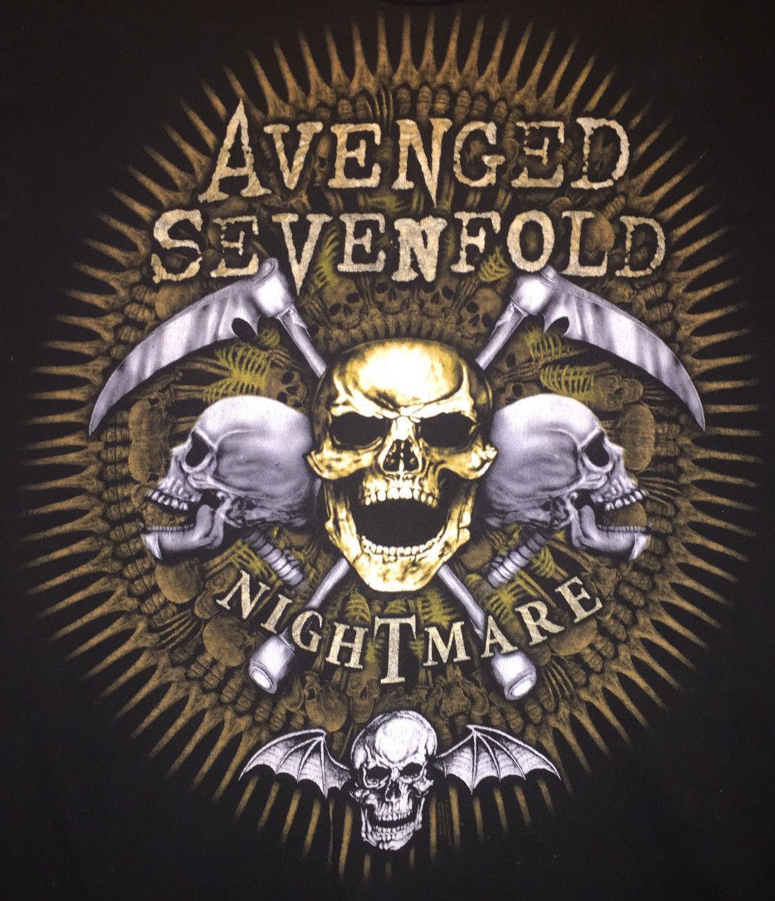 8a59ccb66 Large Black Music Band TShirt Avenged Sevenfold Logo Nightmare Amazing  Artwork Cartoon T Shirt Men Unisex On T Shirt Tourist Shirts From  Cls6688521