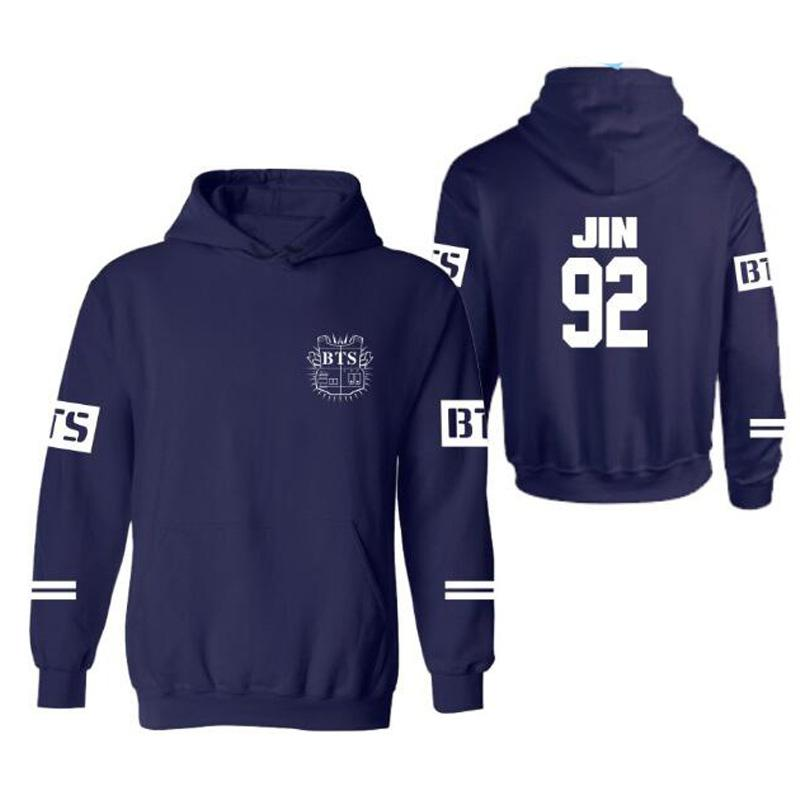 BTS Hoodies BTS Kpop JIMIN V Sweatshirt Print Hot Stamping Sweatshirts Oversized 4XL Men Women Pullover
