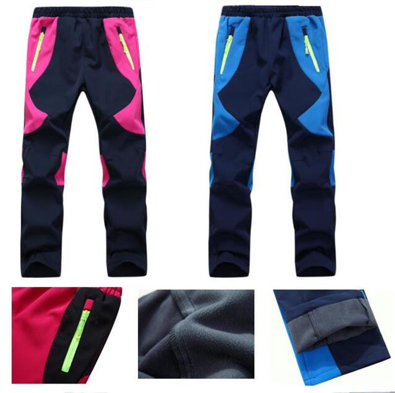 Kids Fleece Ski Pants Camping Hiking Climbing Combat Soft Shell Trousers  Children Boys Girls Outdoor Windproof Waterproof Warm Pants Bogners Boys  Charcoal ... 2b79da7af