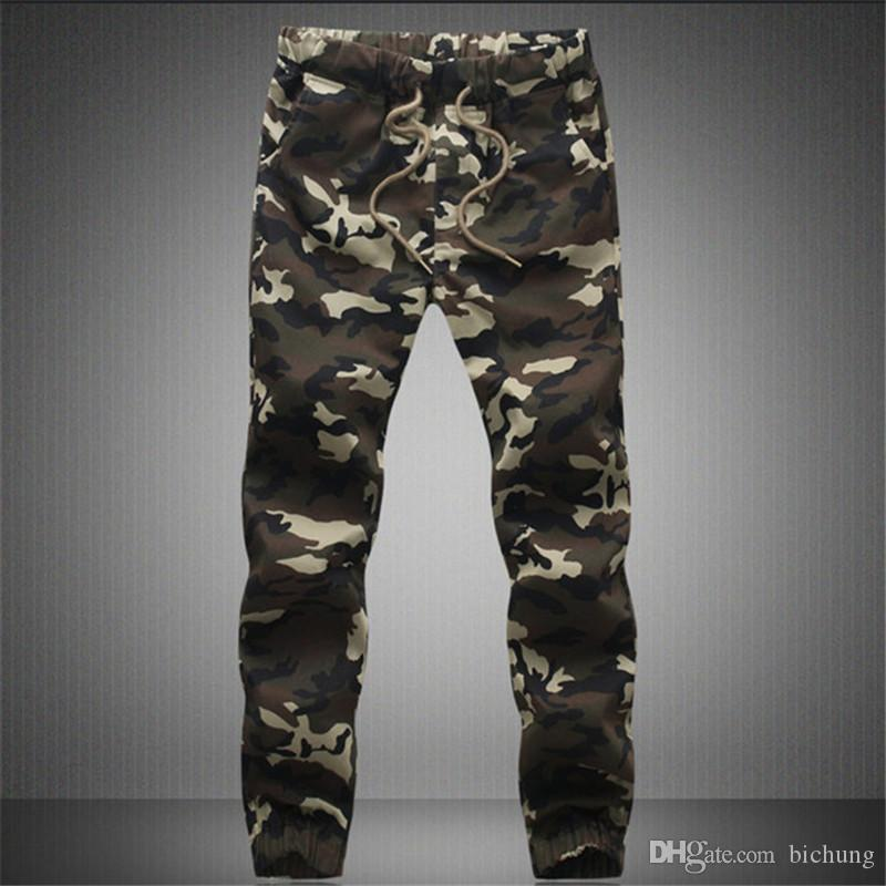 2017 Casual Men Pants Camouflage Hip Hop Army Pants Brand Quality Cool Camo Clothing Fashion Military Trousers M-5XL Men Joggers