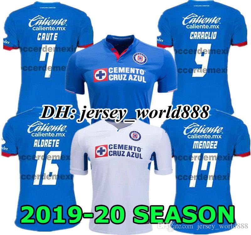 d99b015f517 2019 CAUTE CARAGLIO 19 20 CRUZ AZUL Jersey Soccer Home Blue MONTOYA Mexico  Club CRUZ AZUL Away White Football Shirt 2019 2020 HERNANDEZ From  Jersey_world888 ...