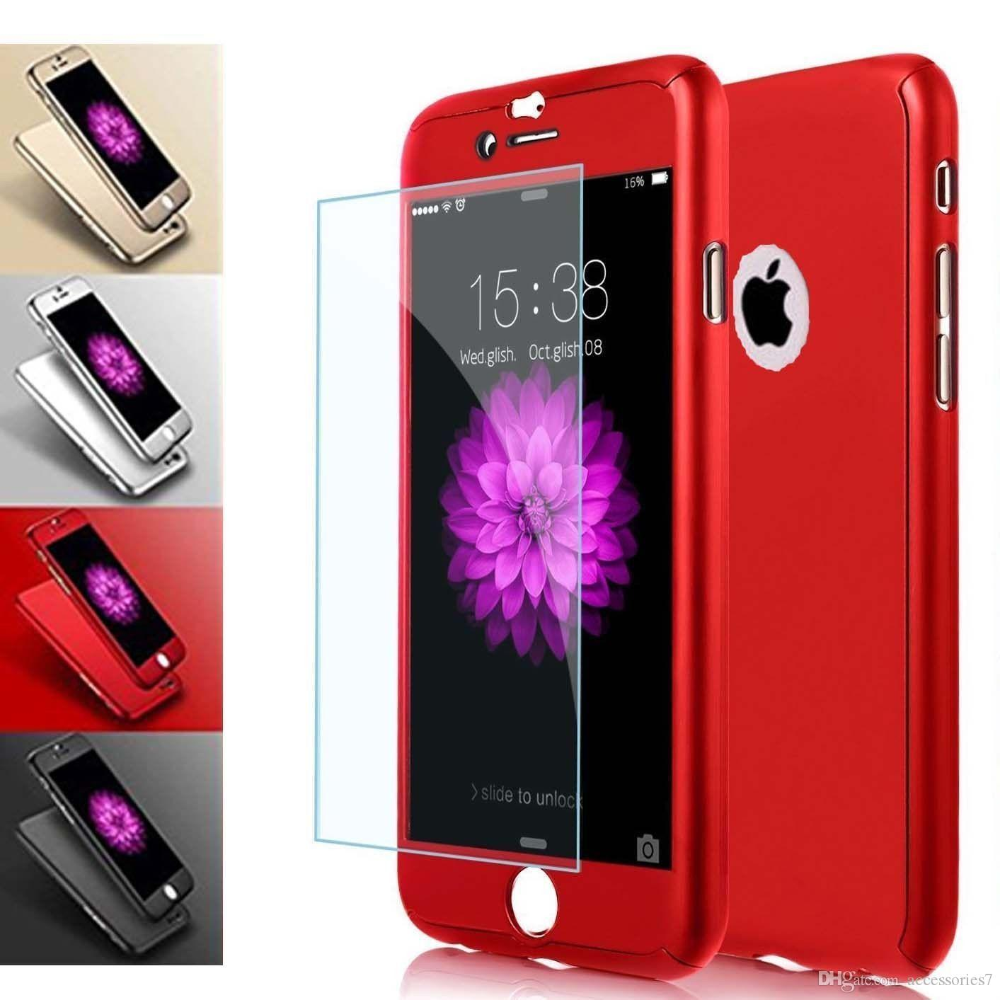 3eebc57fcd5365 Hot Luxury Ultra Thin 360 Shockproof Hybrid Glass Full Protector PC Hard  Matte Phone Case Cover Shell For Apple IPhone 5S 6S 7 8 Plus X XS Fashion  Cell ...