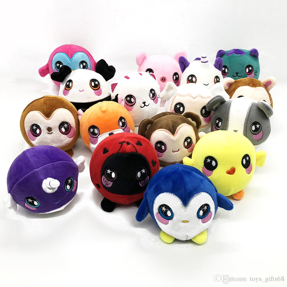 Plush slow rebound toy 15styles squishy venting doll PU decompression doll mixed cartoon animal head squeezable toy
