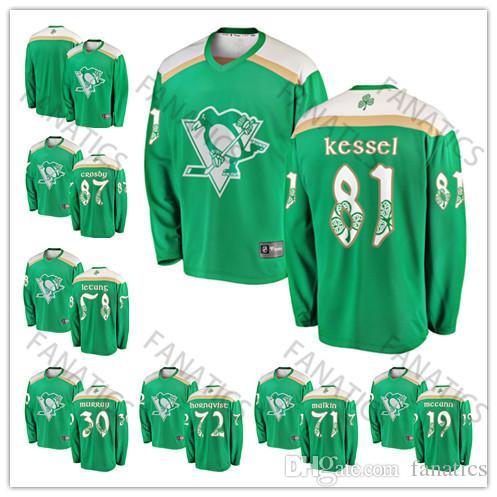 2019 2019 St Patricks Day Men Women Youth Green Sidney Crosby Evgeni Malkin  Phil Kessel Kris Letang Patric Hornqvist Matt Murray Jake Guentzel From  Fanatics ... d2fabd9d6