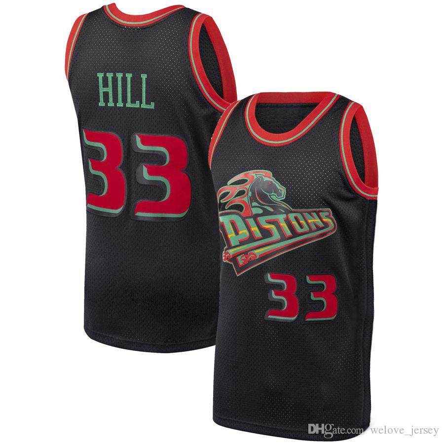 0adba89c6e4 2019 33 Grant   Hill Detroint Jersey Pistons 11 Isiah   Thomas 10 Dennis   Rodman  Mesh Retro Basketball Jerseys Fast From Welove jersey