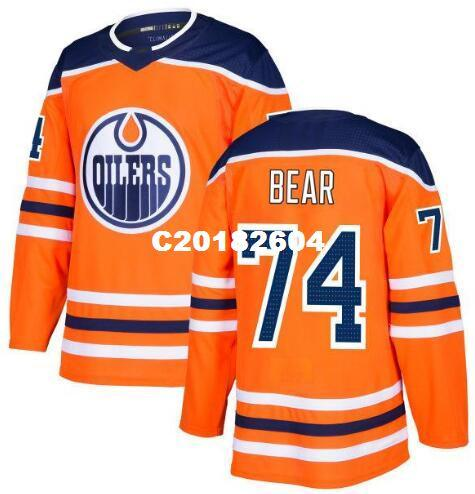 f11d53401 2019 Real Men Real Full Embroidery 2018 New Season Edmonton Oilers 74 Ethan  Bear Hockey Jersey Or Custom Any Name Or Number Jersey From C20182604, ...