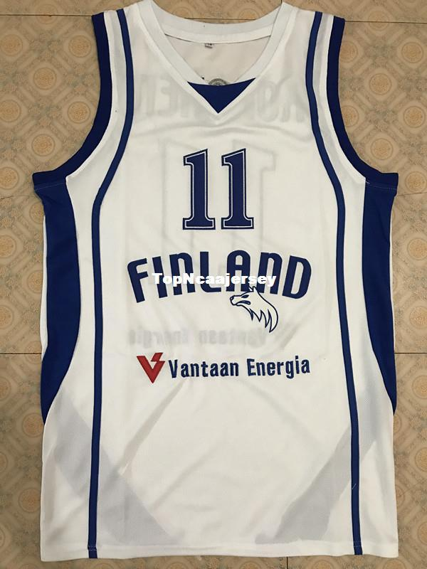 New  11 PETTERI KOPONEN FINLAND 2013 EURO BASKET Basketball Jersey ... 3716e07d2