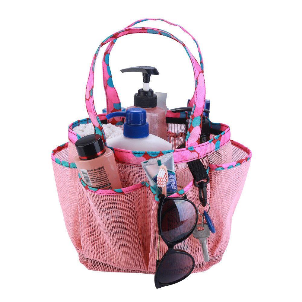2019 Bathroom New Make Up Cases Mesh Bag Portable 8 Pockets Mesh ... 01bae8b8e9e35