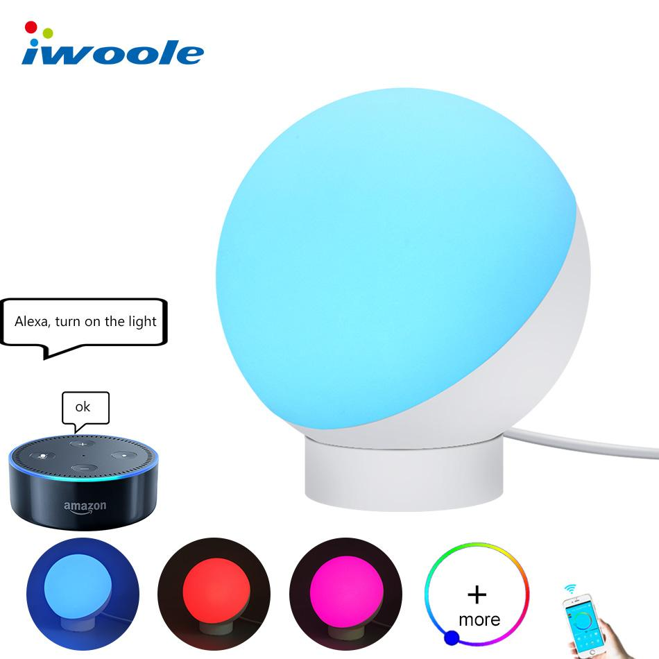 2019 Iwoole Wifi Rgb Led Light Color Leds App Control Warm White Flashlight Schematic Application Dimmable Night 7w 110v 220v Alexa Google Home Smart Table Lamp From Tengdinglamp