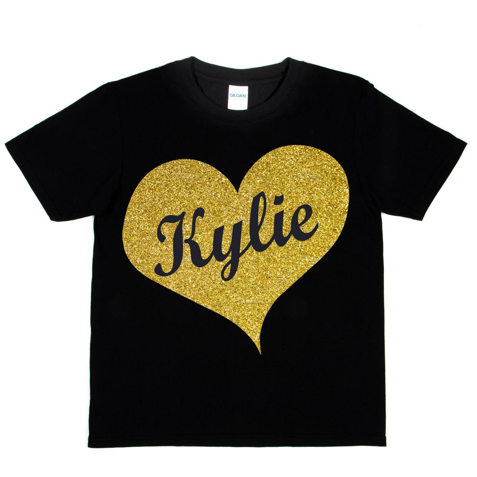 acheter populaire 0c968 64a14 T-shirt Personnalisé pour Enfants N importe Quel Nom Kylie Anniversaire  RETRO VINTAGE Classique taille t-shirt taille discout chaud nouveau tshirt  top ...