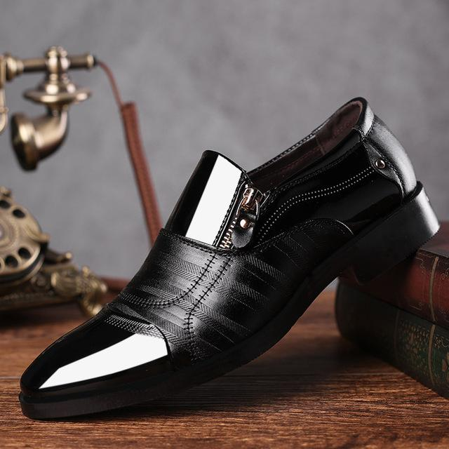 DUDELI Fashion Business Dress Men Shoes 2019 New Classic Leather Men'S Suits Shoes Fashion Slip On Dress Men Oxfords