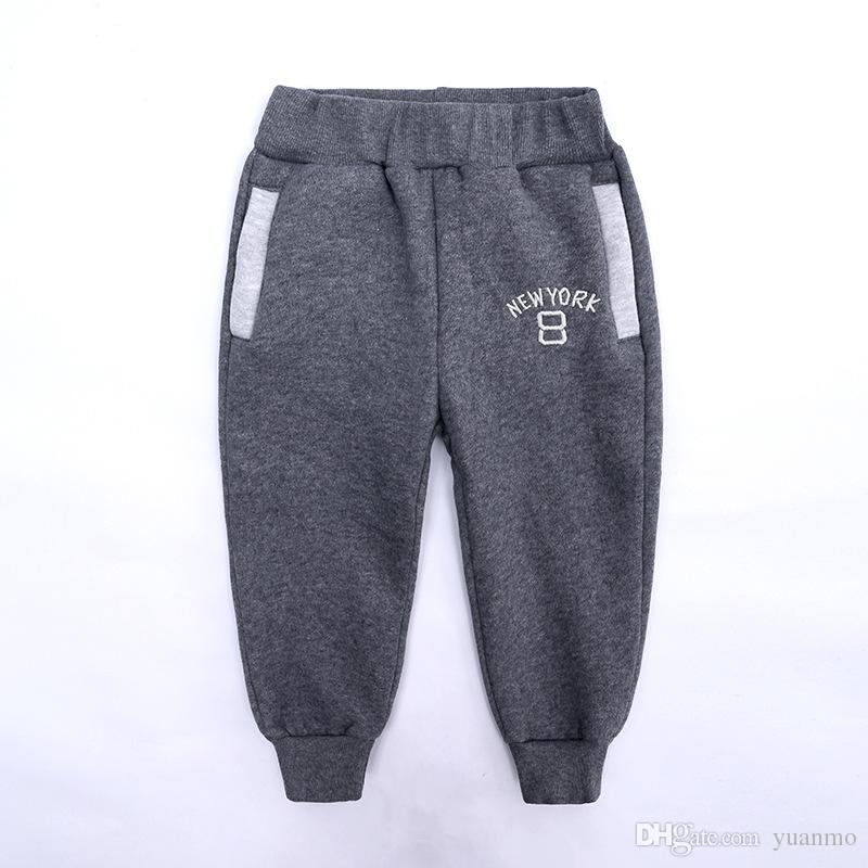 2019 autumn and winter, children's wear new products, Korean children's fleece long pants, baby baby sweatpants