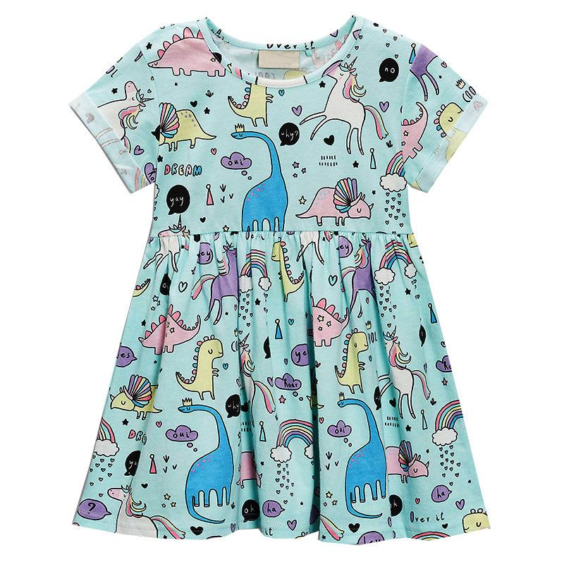 5af04a52b805 2019 Little Girl Unicorn Dress Toddler Party Casual Ruffled Swing Dress 18M  To 6T From Thousandkisses, $6.99 | DHgate.Com