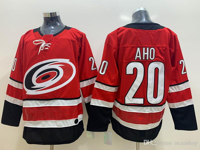 huge discount c2840 b28e6 2019 Kids NHL Carolina Hurricanes Jersey 20 Sebastian Aho Red Stitched  Youth Hockey Jersey Size S/M L/XL