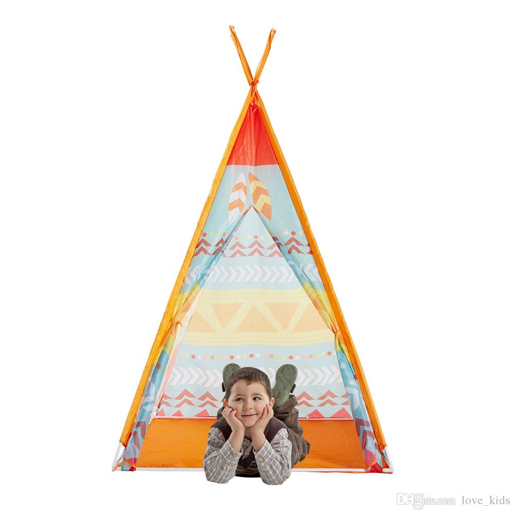 Children's playing Tent Ethnic indian Wind design Baby Toys tents Yurts Princess Mosquito Nets Game funny House