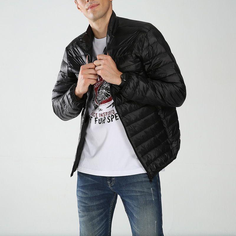 Quality 3xl Plus Size White Duck Down Jacket Men Autumn Winter Warm Coat Mens Ultralight Duck Down Jacket Male Windproof Parka Excellent In
