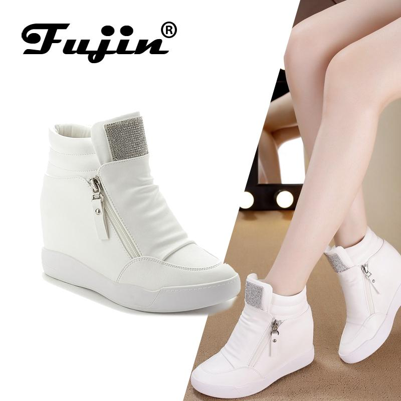 3b13120060 Compre FUJIN Marca Mulheres Ankle Boots Mulheres Manter Quente Sapatos De Pelúcia  Lace Up Sapatilha Sapatos Confortáveis para O Sexo Feminino De Lemmenv