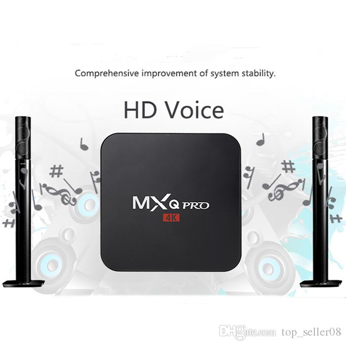 MXQ PRO 4K H3 Android tv box Allwinner H3 Android 7 1 1G 8G WiFi add-ons 4K  set top box