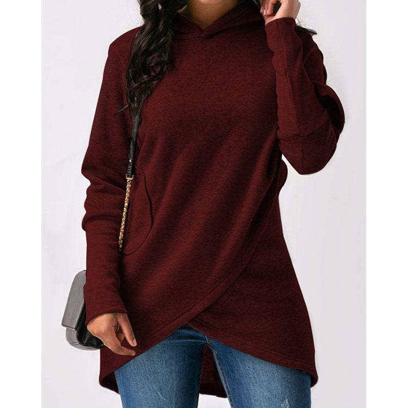 Ladies Womens Hoodies pulôver Inverno Hoodies Sólidos camisola cores Mulheres manga comprida camisola do Hoodie 2018 mulheres cobre