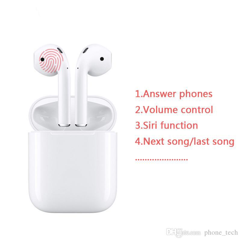 i12 tws Bluetooth Earphone Wireless earphones Touch control Earbuds 3D  Surround Sound & Charging case for iPhone Android phone Good