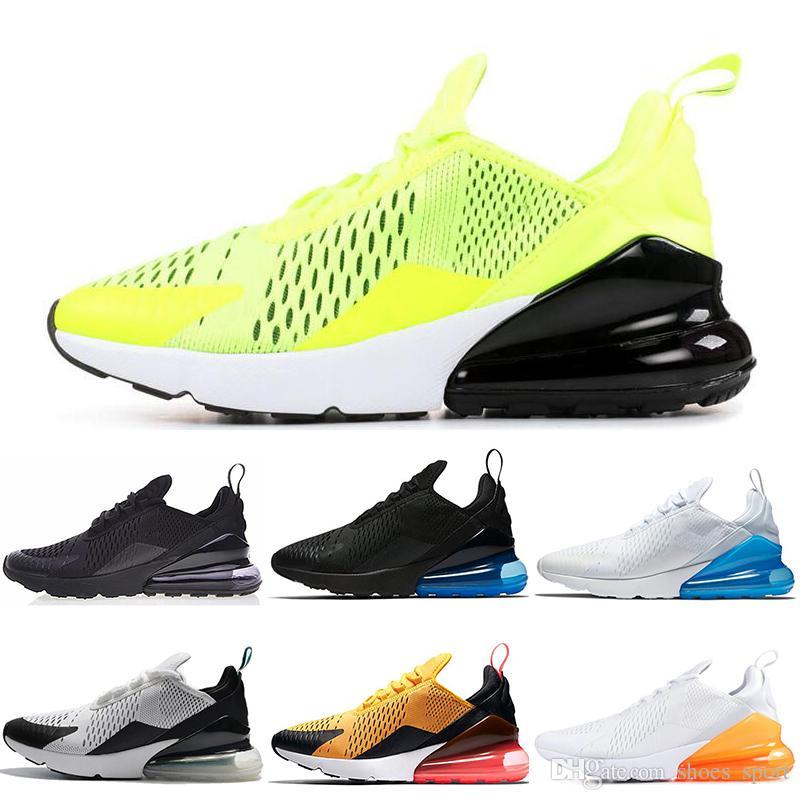 970e2161150 Acheter Nike Air Max 270 Shoes Mode Hommes Femmes 270 Chaussures De Course  Volt Noir Blanc Be True Argile Vert Unisexe Baskets De Sport Baskets Taille  36 45 ...