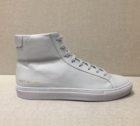 8ed0977cdf8f Common Projects By Women Men All White Black Genuine Leather High Top  Casual Shoes Men Women Common Brand Shoes Flats Homme Size36 46 V1 Shoe  Boots Fashion ...