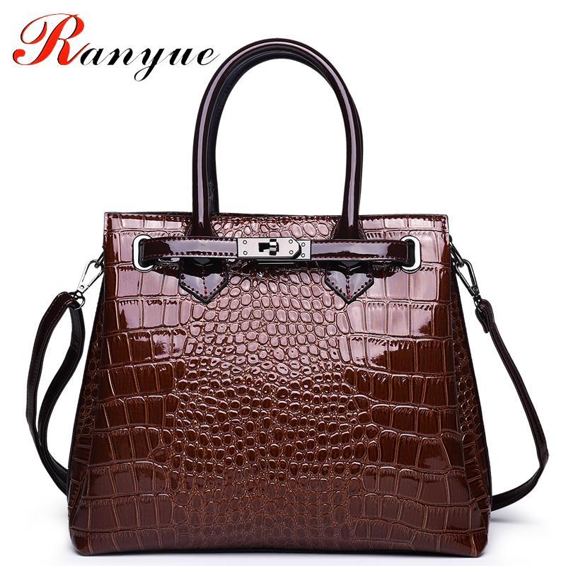 2019 Fashion RANYUE High Quality Genuine Leather Bag Ladies Crocodile  Pattern Women Messenger Bags Handbags Women Famous Brand Designer 2018  Messenger Bags ... a63a840addd33