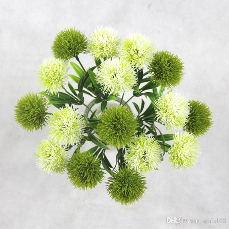 Simulation Plant For Artificial Flowers Single Stem Plastic Flower Wreaths Wedding Decorations Home Garden Table Centerpieces HH9-2122