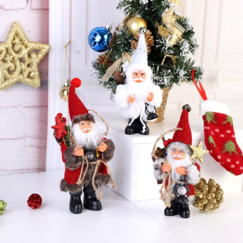 Christmas Home Decor 2019.2019 Year Christmas Santa Claus Doll Toy With Kerosene Lamp Home Decor Ornaments Holiday Decorations