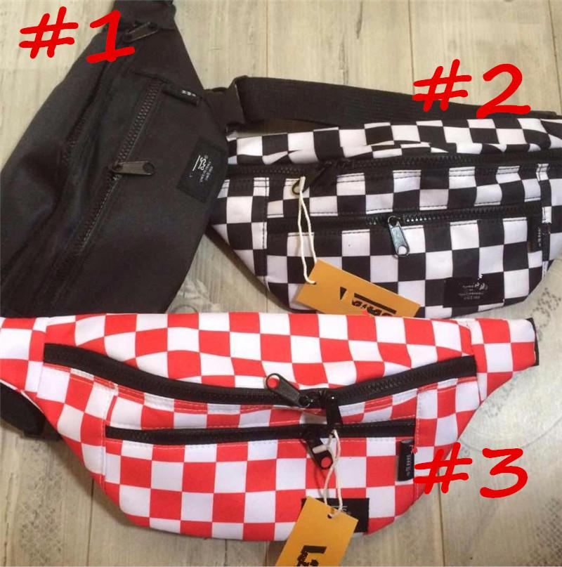 PLaid Waist Bags Unisex Chessboard Designer Fanny Pack Plaid Belly Waist Bumbag Sport Running Jogging Chest Pack Brand Oxford Purse C81407