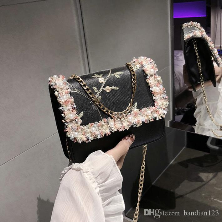 fc5d524472484d 2019 Early Spring New All-in-one Cross Shoulder Fashion Small Fresh Small  Square Bag Lace Small Bag Fashion Female Bag Boston Bag Handbag Online with  ...