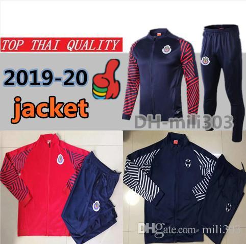 5324ef027 2019 2019 LIGA MX Club Chivas De Guadalajara Soccer Jacket Tracksuit  Survetement 19 20 Mexico Monterrey Adult Football Jacket Sportswear Set  From Mili303