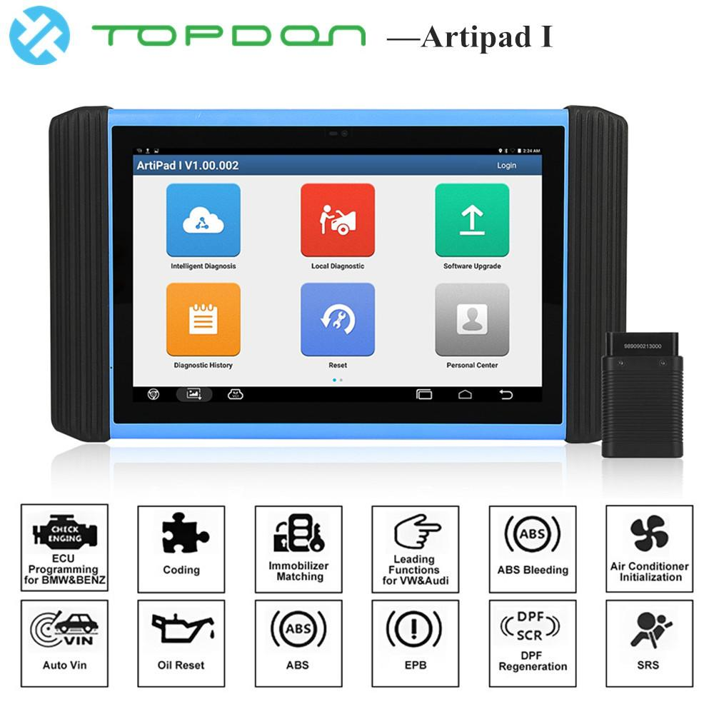 TOPDON Artipad I OBD2 Diagnostic Tool ECU Key Programmer Official Website  Programming Software Engine Analyzer pk Launch X431