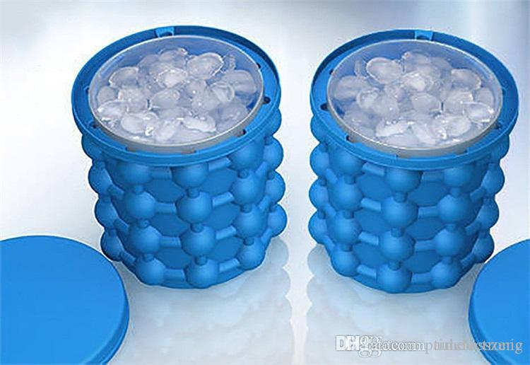 2018 Ice Cube Maker Genie Silicone saving irlde ice genie Summer cold drinks tool silicone ice bucket
