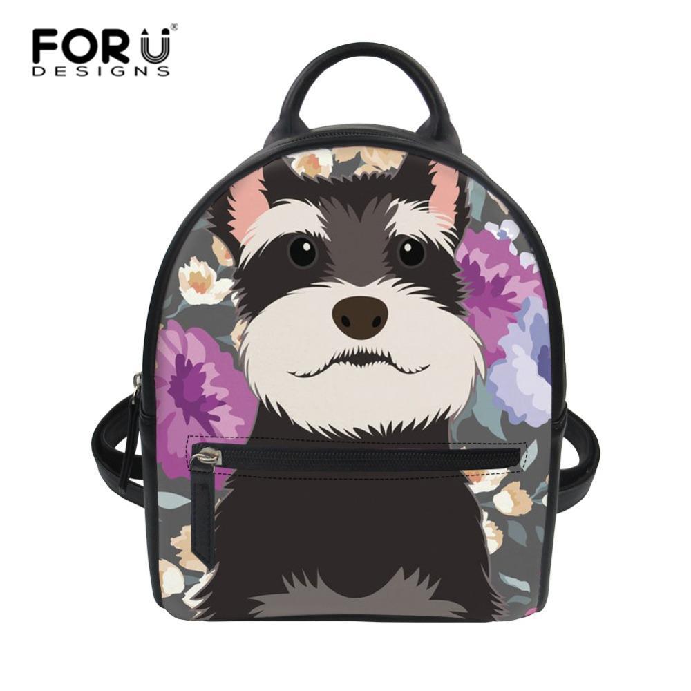 FORUDESIGNS Schnauzer Printed College Mini Shoulder Bag High Quality ... 91eeaf83497ec