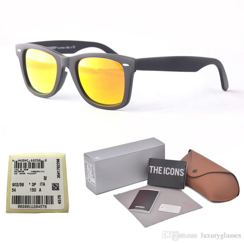 1cbcdeb8ca Compre Retro Marca Gafas De Sol Hombre Mujer Gafas De Sol Montura De Tablón Bisagra  De Metal Lentes De Vidrio Para Gafas Gafas De Sol Con Gafas Y Etiquetas ...