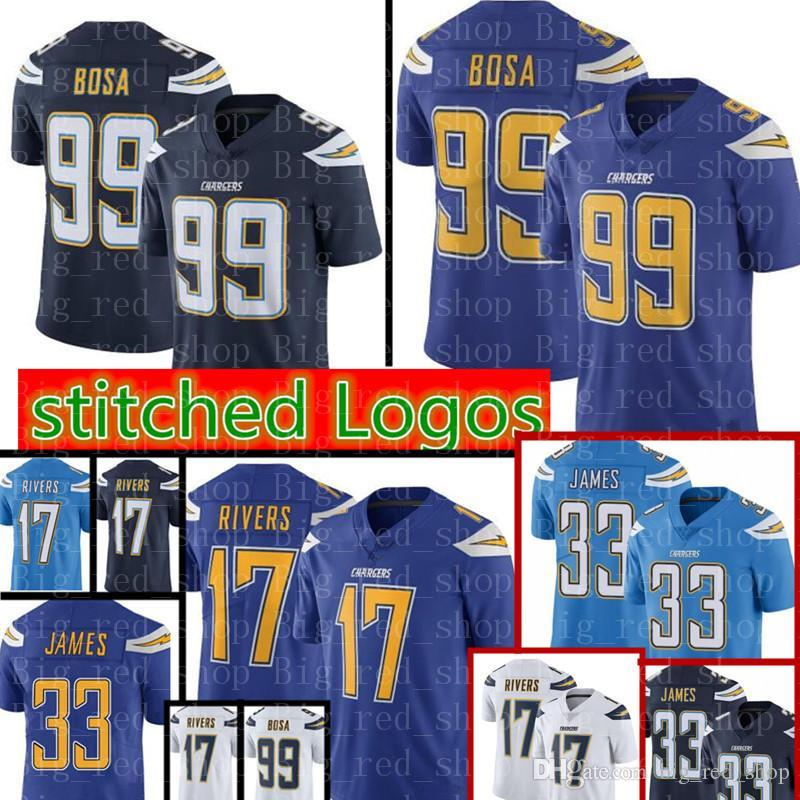 separation shoes 72b7b b25bd 99 Joey Bosa Los Angeles Chargers Jersey 28 Melvin Gordon 17 Philip Rivers  33 Derwin James Jerseys High quality Cheap sales