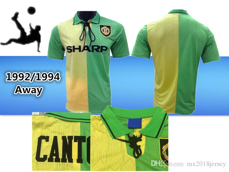 63f951b5c Thai 1992-93 Third Kit Cantona Giggs 1992 1993 CANTONA Retro ...