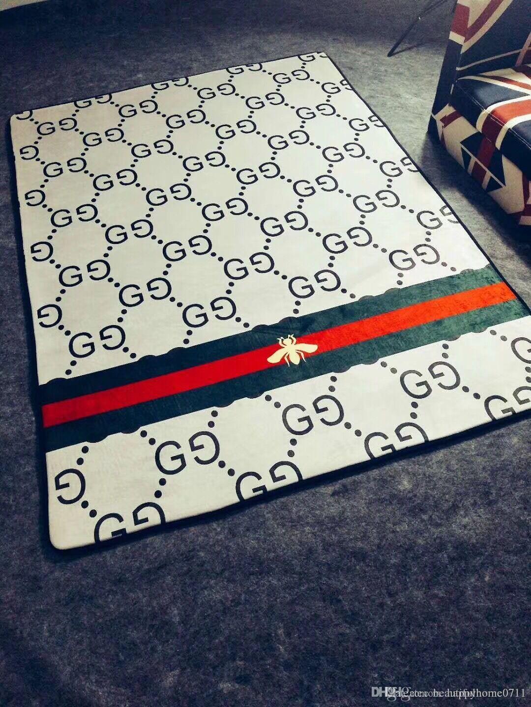 Tappeti di design stampati di lusso Tappetini imbottiti di peluche  materiale natalizio decorativo Tappeto per soggiorno e camera da letto