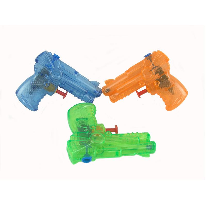 2019 Factory Direct Selling 10CM Children's Toys Mini Small Water Gun Solid Color Transparent Custom