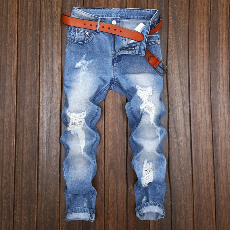 2019 jeans for mens slim fit pants classic jeans male denim Designer Trousers Casual skinny Straight Elasticity pants