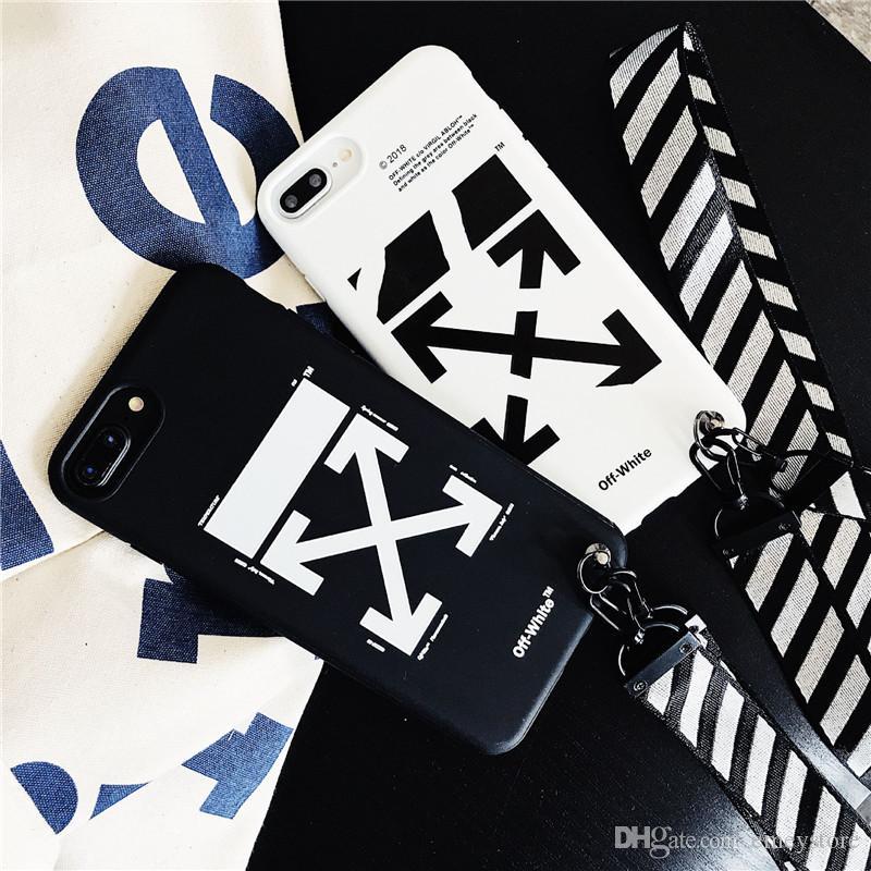 15164318f Personalizar Fundas Movil Nueva Moda Agradable Para IPhone XS Max X Xr 7 8  Plus Blanco Apagado Pintura Rayas Cubrir Duda Con Cordón Off Rayas IPhone  6s Plus ...