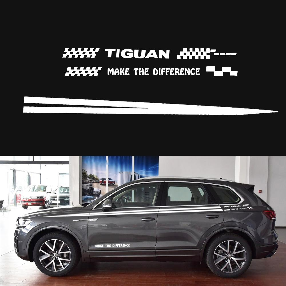 Car sticker for volkswagen tourareg car side body decal sticker pickup truck decals diy car styling black or white decoration canada 2019 from jinggongcar