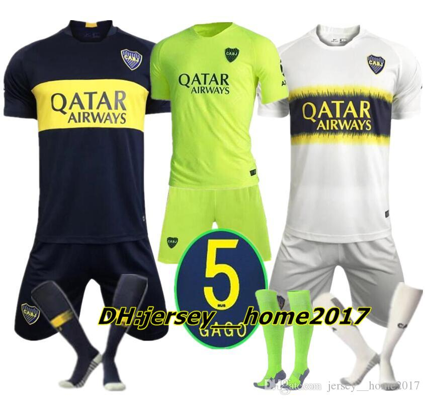 official photos 99c9a 5a712 18 19 Boca Juniors Home Soccer jerseys Uniforms Men s kits sock Soccer  Jersey Boca Away Football Blue White Pavon GAGO TEVEZ
