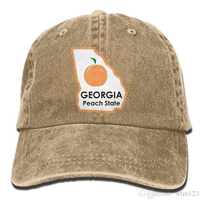 2019 New Wholesale Baseball Caps Print Hat Georgia Peach State Mens Cotton  Adjustable Washed Twill Baseball Cap Hat Neweracap Cap Hat From Wfm123 75023dfb0181
