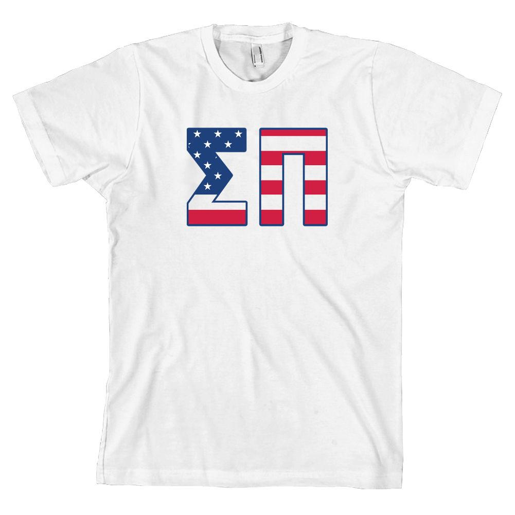 a944a5e4c537 Sigma Pi Bella + Canvas T Shirt Sig Pi Fraternity USA Letters  ALL SIZES   2018 High Quality Brand Men T Shirt Casual Short T Shirt Awesome Shirt  Design From ...